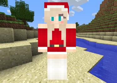 Minecraft Santa Girl image