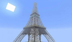 Minecraft Eiffel Tower image