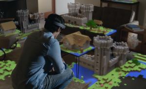 HoloLens Minecraft image