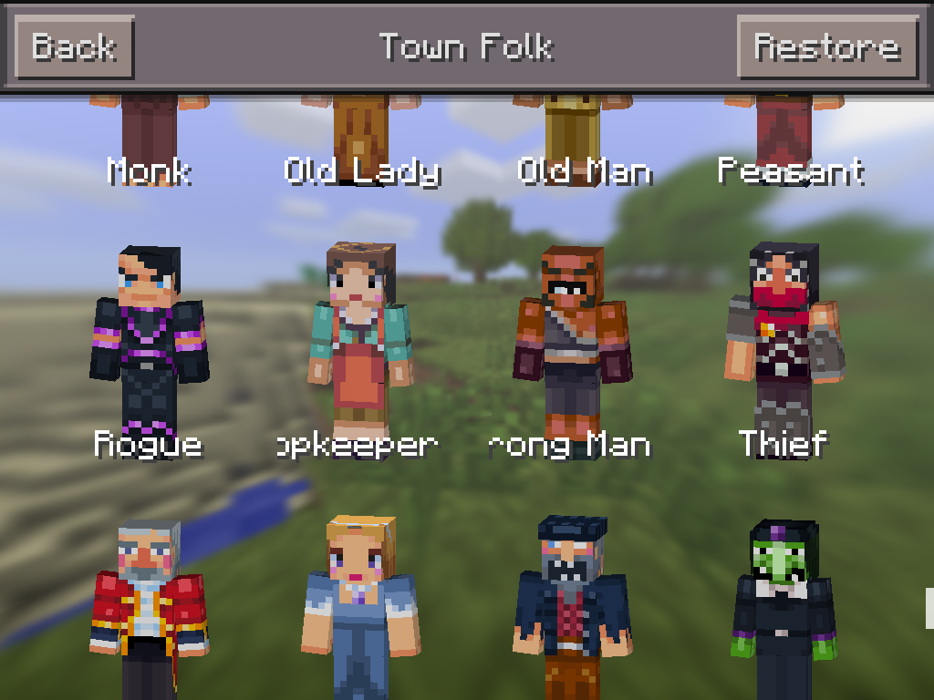 MCPE 0.11.0 skin packs image