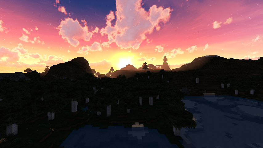 Realistic Minecraft Sunset image