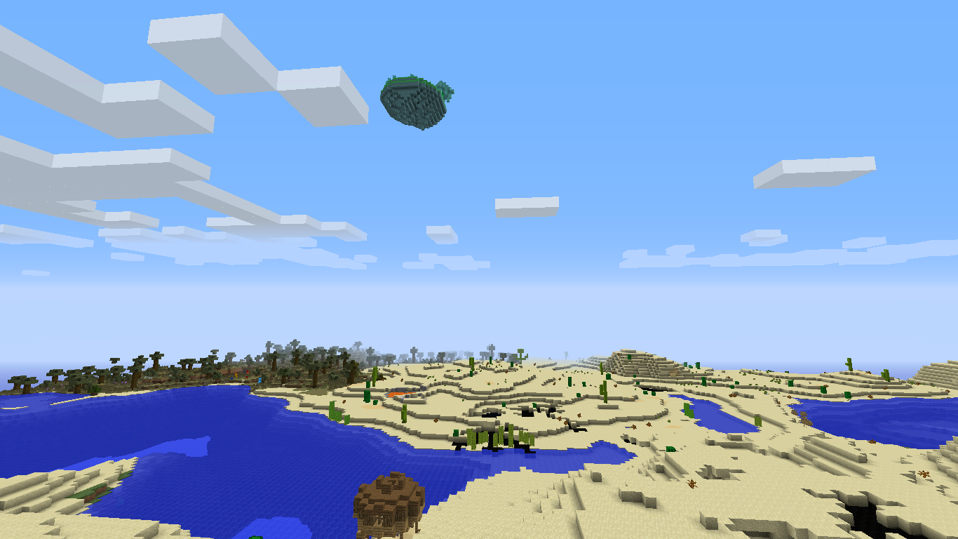 Minecraft Direwolf20 floating island image