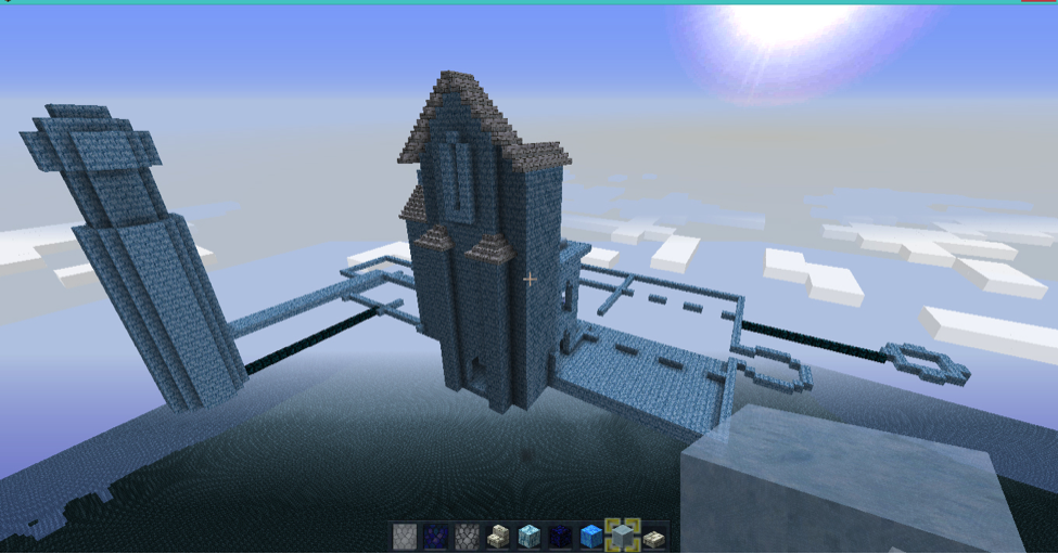 Minecraft Cloud Castle Walls image