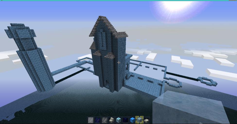 Minecraft Cloud Castle Walls image