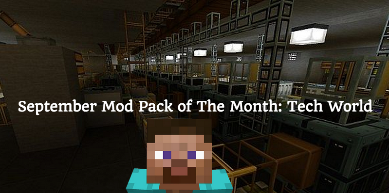 September Minecraft Mod Pack of the Month Tech World image